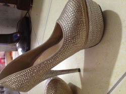 ?nh s? 13: giày kim sa vàng chanh nhạt - Giá: 300.000