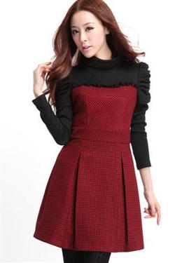 Ảnh số 77: váy đông-ms:c12477-370k,sọc đỏ,sọc cafe sữa,size S,M,L - Giá: 370.000