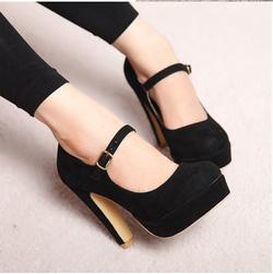Ảnh số 31: giày cao gót  nhung - Giá: 350.000
