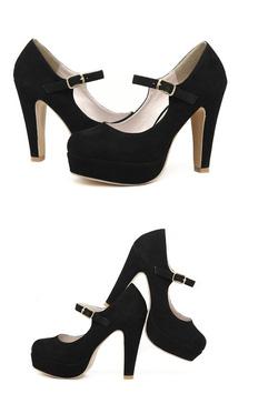 Ảnh số 33: giày cao gót  nhung - Giá: 350.000