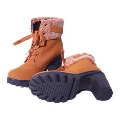 ?nh s? 65: boot cao gót da lộn cổ lông - Giá: 360.000