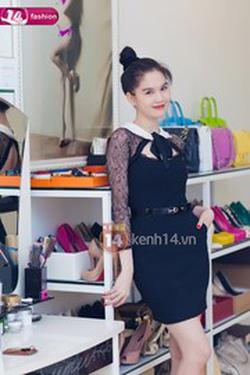 Ảnh số 86: váy cổ sen buộc nơ Ngọc Trinh - Giá: 580.000