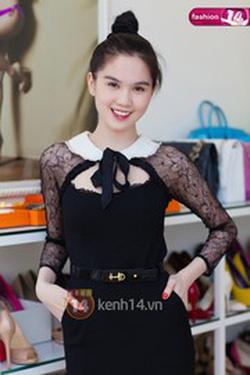 Ảnh số 87: 86: váy cổ sen buộc nơ Ngọc Trinh: 580k - Giá: 580.000
