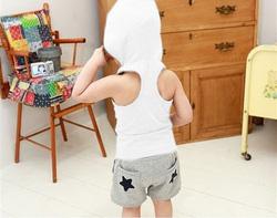 Ảnh số 51: Bộ áo ba lỗ quần sooc liền mũ - Giá: 160.000