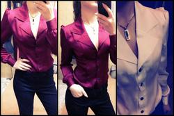 Ảnh số 45: sơ mi cổ vest thiết kế độc đáo vai bèo dúm mang lại vẻ đẹp sang trọng, quý tộc, 2 màu đỏ boocđô và trắng ngọc trai sizeS,M có thể oder size lớn hơn 3 - Giá: 290.000