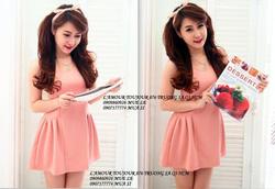 ?nh s? 32: Váy hồng nhún Đăng Thư - Giá: 220.000