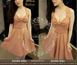 Ảnh số 11: Váy xếp ngực dáng xòe vintage sexy Lady - Giá: 150.000