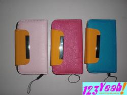 Ảnh số 2: Bao da bật ngang iphone 3g,s tag sắt sành điệu BNN9 - Giá: 150.000