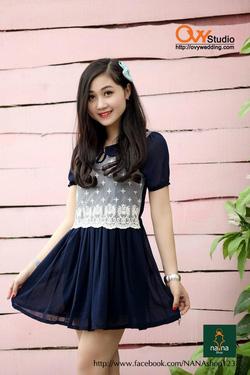 Ảnh số 19: Váy thân ren hoa ( MS V1005) : 220k màu: hồng ,tím than - Giá: 220.000
