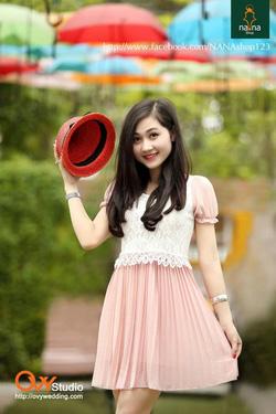 Ảnh số 81: Váy cạp ren ( MS V1004) : 220k màu: kem và hồng - Giá: 220.000
