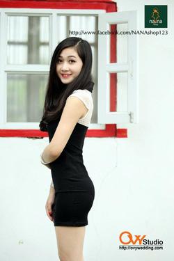 Ảnh số 87: Váy ôm cổ chữ T ( MS V1013) : 280k MÀU: ĐEN - Giá: 280.000
