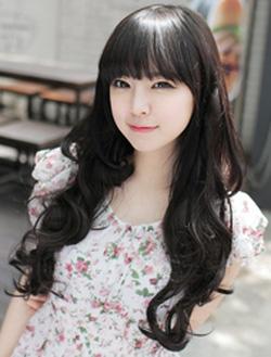 ?nh s? 33: Korea tóc bộ xoăn nhẹ mái bằng  có da đầu chịu nhiệt - Giá: 800.000