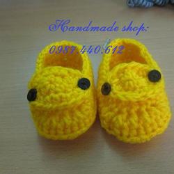 Ảnh số 1: Giày len móc màu vàng - Giá: 80.000