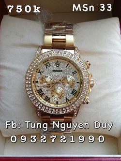 Ảnh số 52: Rolex mặt đá, viền đá, - Giá: 750.000