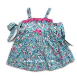 Ảnh số 41: Đầm kate mềm 2 dây Gala, size 2>4>6>8>10 tuổi - Giá: 1.000
