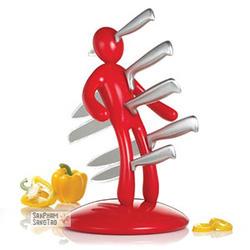 ?nh s? 7: Bộ 5 dao kèm giá cắm hình người - Giá: 885.000
