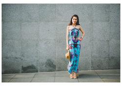 Ảnh số 4: Váy maxi xanh ngọc - Giá: 350.000