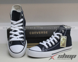 Ảnh số 8: Giày Classic vải cao xanh navy - Giá: 220.000