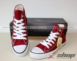 Ảnh số 88: Giày Converse Classic cao cổ Đỏ Mận - Giá: 220.000