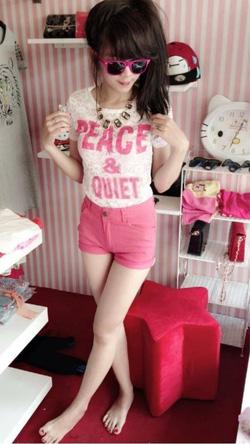 Ảnh số 58: set bộ áo ren quần hồng so hot - 310k áo:chất liệu ren in chữ nổi quần chất vải mềm dày như hình - Giá: 310.000