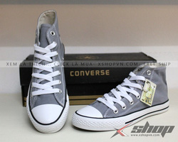 Ảnh số 69: Giày Converse classic cao cổ ghi - Giá: 220.000