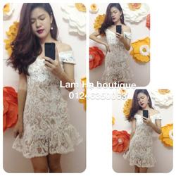Ảnh số 22: Đầm ren trắng hở vai - Giá: 111.111