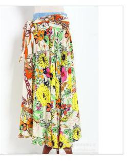 Ảnh số 89: chân váy vải  thô 100% sơi cotton - Giá: 220.000