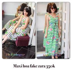 Ảnh số 50: Váy maxi hoa fake Zaza 350k - Giá: 350.000