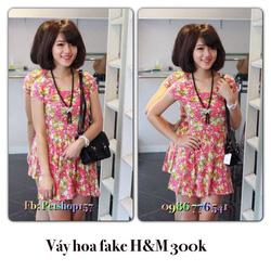 Ảnh số 63: Váy xòe hoa fake H&M 280k - Giá: 280.000