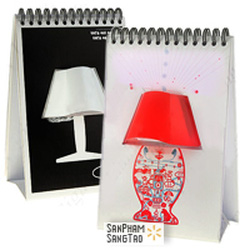 ?nh s? 9: Đèn lịch để bàn, đèn ngủ quyển lịch tự trang trí. - Giá: 138.000