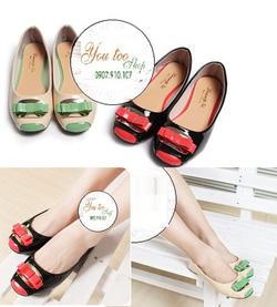 ?nh s? 45: Giày búp bê top toe nơ đôi (S101)- 190k giảm còn 100k - Giá: 100.000