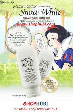 Ảnh số 1: Kem tắm trắng mặt và người Snow White milky pack Secret Key Hàn Quốc - Giá: 430.000