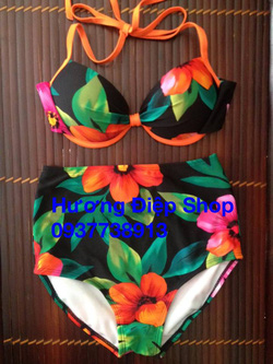 Ảnh số 85: Bikini cạp cao vintage - Giá: 350.000