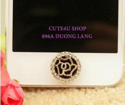 Ảnh số 65: M16: Nút home hoa hồng đen - Giá: 120.000