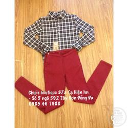 Ảnh số 72: Sơ mi kẻ Zara VNXK 230k, quần khóa hông Mango VNXK 290k (size 26 27 28) - Giá: 230.000
