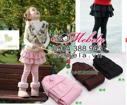 Ảnh số 70: QG502 Quần liền 2 tầng cho bé gái 2-8 tuổi (loại lót lông giá 190k) - Giá: 150.000