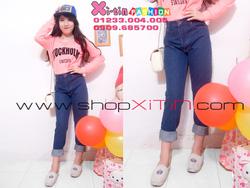 Ảnh số 3: D1284.Jeans dài xanh (M,L)-->310,000 VNĐ - Giá: 310.000