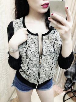 Ảnh số 72: áo khoác len pha ren - Giá: 350.000
