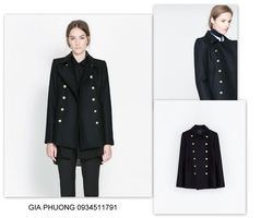 Ảnh số 82: SHORT COAT WITH METALLIC BUTTONS - Giá: 3.450.000