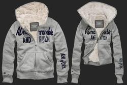 Ảnh số 3: Áo khoác Abercrombie&Fitch (ghi sáng) - Giá: 1.300.000