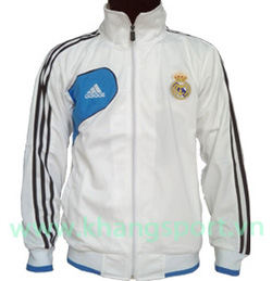 Ảnh số 19: Áo khoác nam thể thao Real Madrid trắng kẻ đen - Giá: 160.000