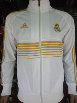Ảnh số 24: Áo khoác nam thể thao Real Madrid trắng kẻ vàng - Giá: 160.000