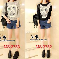 ?nh s? 17: Áo hình mèo MS:3754 - Giá: 210.000