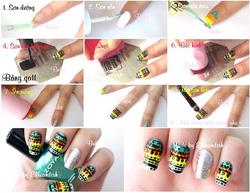 Ảnh số 21: stamping nail art - Giá: 20.000