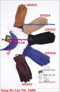 Ảnh số 24: Găng Tay Nữ, Găng Tay Len Nữ, Găng Tay Ống, Găng Tay Da, Da Lộn - Giá: 160.000