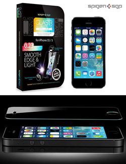 Ảnh số 1: Siêu miếng dán cho iphone 5 và 5s SGP GLAS.tR NANO SLIM - Giá: 650.000
