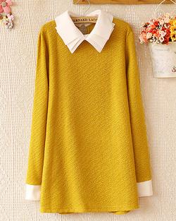 Ảnh số 6: Váy len / Size: Free Size / Màu: Xanh lá, Đen, Hồng, Tím, Tím Than, Vàng / Xuất xứ Made in Korea - Giá: 300.000