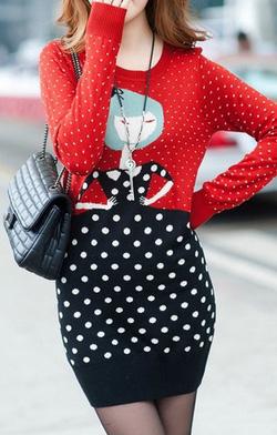 Ảnh số 49: Váy cổ tròn chấm bi / Size: S, M, L / Màu: Trắng / Xuất xứ Made in Korea - Giá: 350.000