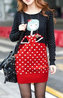 Ảnh số 50: Váy cổ tròn chấm bi / Size: S, M, L / Màu: Trắng / Xuất xứ Made in Korea - Giá: 350.000