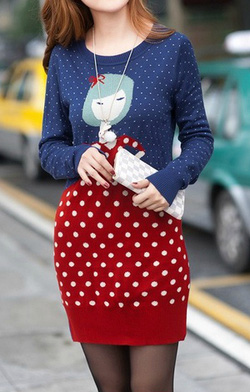 Ảnh số 51: Váy cổ tròn chấm bi / Size: S, M, L / Màu: Trắng / Xuất xứ Made in Korea - Giá: 350.000
